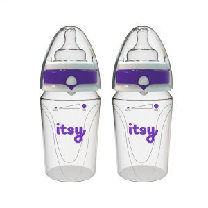 2-Pack Itsy Guzzler Fast Flow Teats Anti Colic Orthodontic